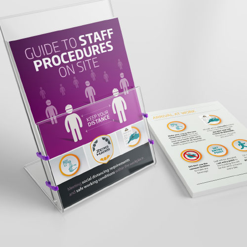 On-site guides for staff